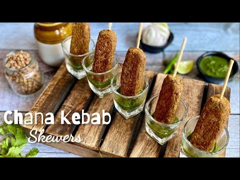 Chana Kebab Skewers | Vegetarian | High Protein & Vegan Recipe | Finger Food