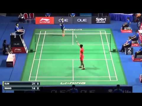 SF Oue Singapore Open 2015   Sun Yu vs Wang Shi Xian