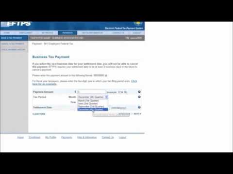 Eftps Payments Training Module 1 Youtube