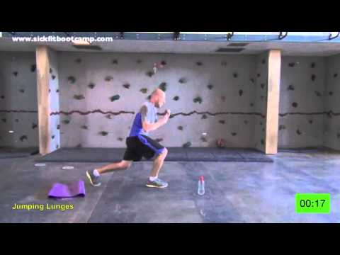 SickFit: Fit In 15 #4 15 Min. Bodyweight Bootcamp Real Time Workout