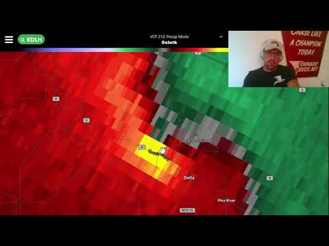 LIVE emergency briefing on TORNADO THREAT in northern Wisconsin near LAKE SUPERIOR!