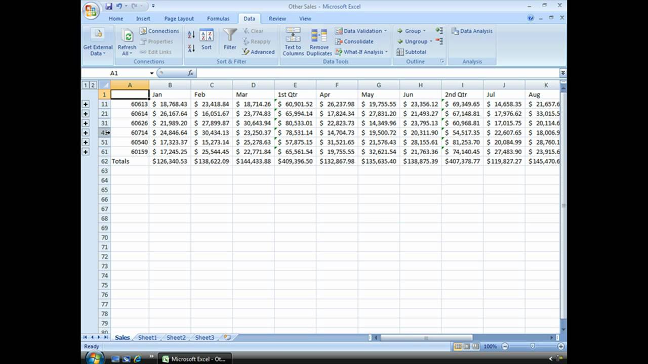 worksheet Grouping Worksheets In Excel group and ungroup data in excel youtube