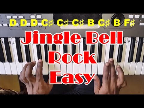 Jingle Bell Rock Easy Piano Tutorial - How To Play - Bobby Helms