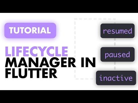 Flutter Application Lifecycle Management   Flutter Background