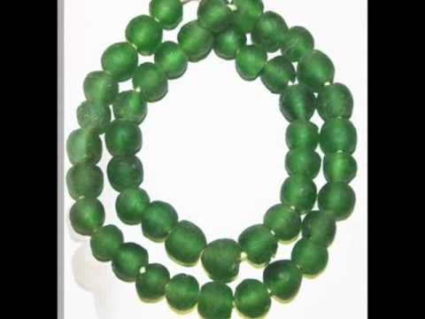 Translucent Krobo Beads for Jewelry design