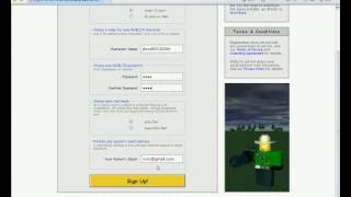 How to make an account on roblox- THE old way!!!