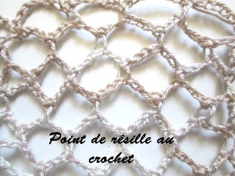 tuto point de resille au crochet ou filet au crochet youtube. Black Bedroom Furniture Sets. Home Design Ideas