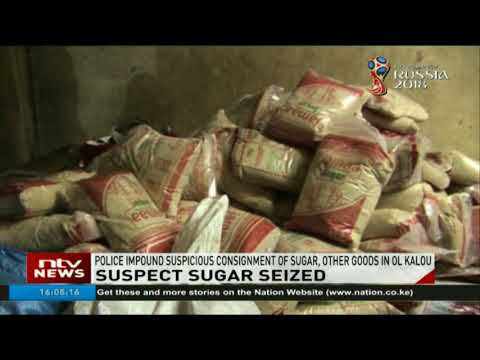 Police impound suspicious consignment of sugar, other goods in Ol Kalou