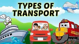 Modes of Transport | Types of Transport  For Kids | Airways, Waterways & Roadways For Kids