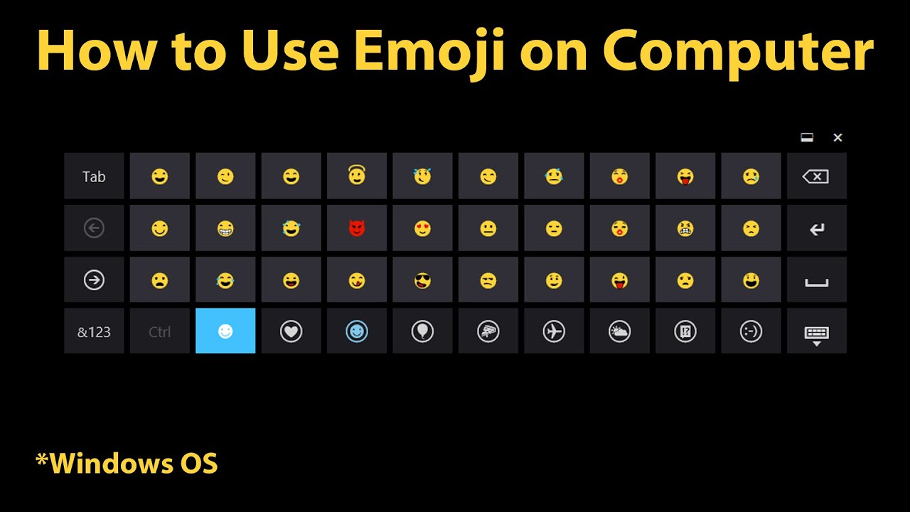 How To Use Emoji On Computer Windows 8 Newer Youtube