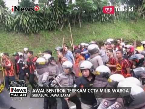 Bentrokan Antar Ormas di Sukabumi Terekam CCTV - iNews Malam 09/04