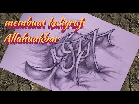 Membuat Kaligrafi Allahu Akbar Basyirakhhmad 24 By Channel