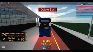 ROBLOX|| Canterbury V3.30!|| Route 747 ( airport route)