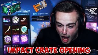 *FIRE GOD* The WORLD'S BEST 20 Impact Crate Opening! | NEW Salty Shores Rocket League Update!