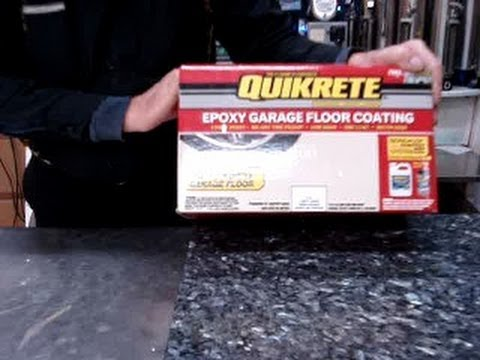 Quikrete epoxy garage basement floor painting and protection & Quikrete epoxy garage basement floor painting and protection - YouTube