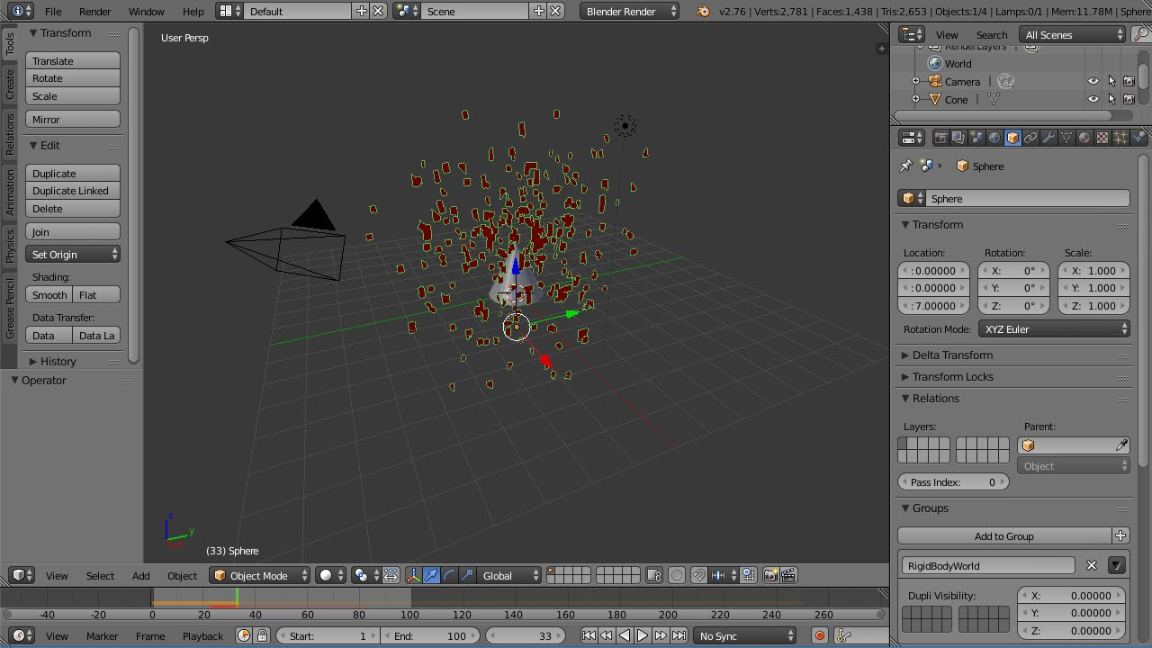 Blender Animation Tutorial Using the Explode Modifier for an Explosion  Effect & a Break Apart Effect