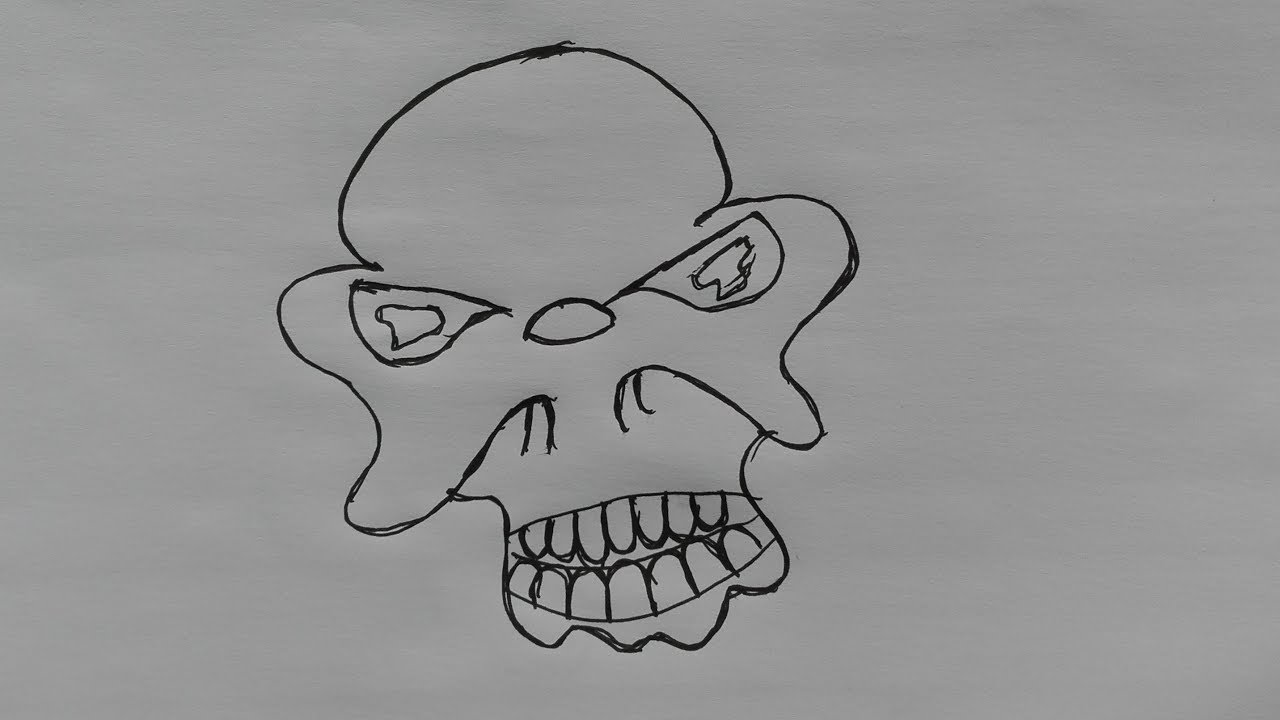 Skull drawing cartoon-drawings of skulls with flames ...
