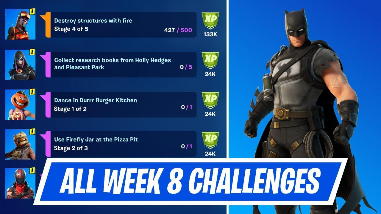 Fortnite Season 8 Fortnite Season 8 Challenges Fortnite Fortnite Week 8 Challenges Season 6 Full List And How To Complete Them
