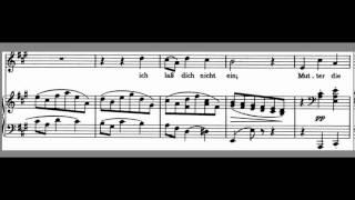 Vergabiches Ständchen Brahms Accompaniment High voice  A Major