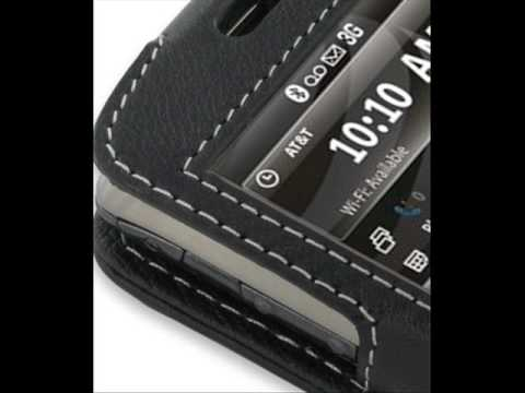 PDair Leather Case for Samsung Jack SGH-i637 - Sleeve Type (Black)