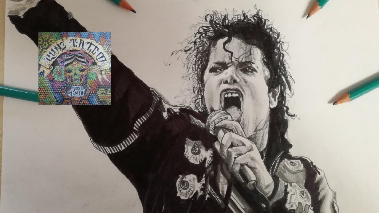 Como Dibujar A Michael Jackson How To Draw Michael Jackson Youtube