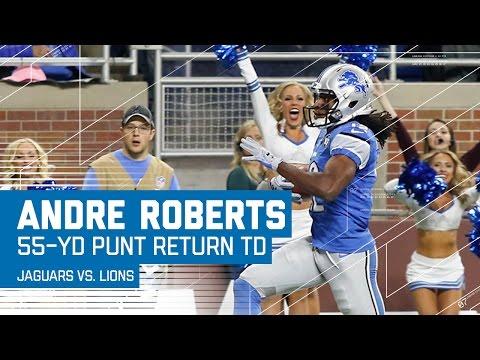 Andre Roberts' Huge 55-Yard Punt Return TD! | Jaguars vs. Lions | NFL