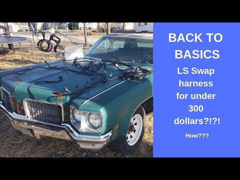 Repeat Back to Basics LS swap initial test fire! Rough wiring how to