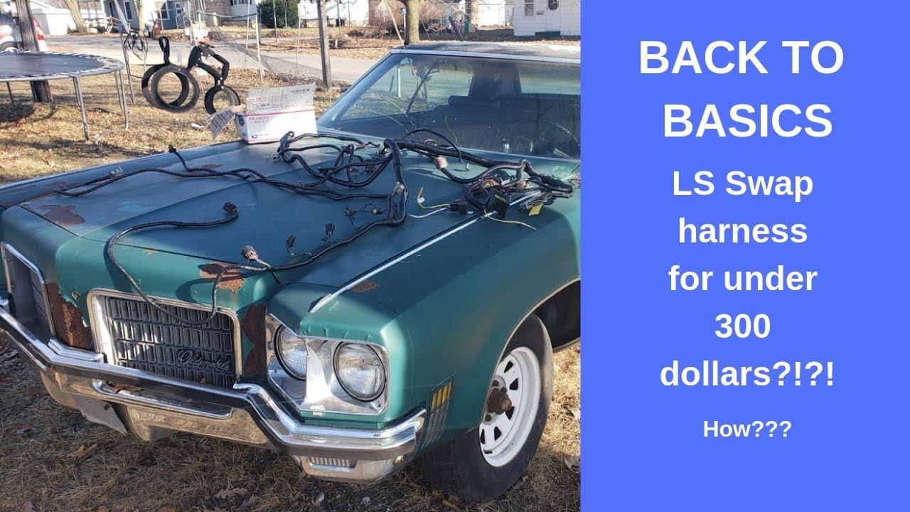 Back To Basics LS C10 swap, budget wiring harness install