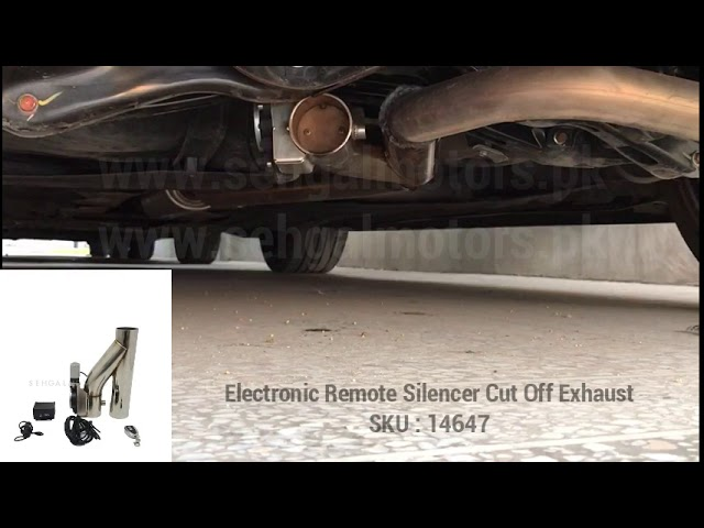 electronic remote silencer cut off