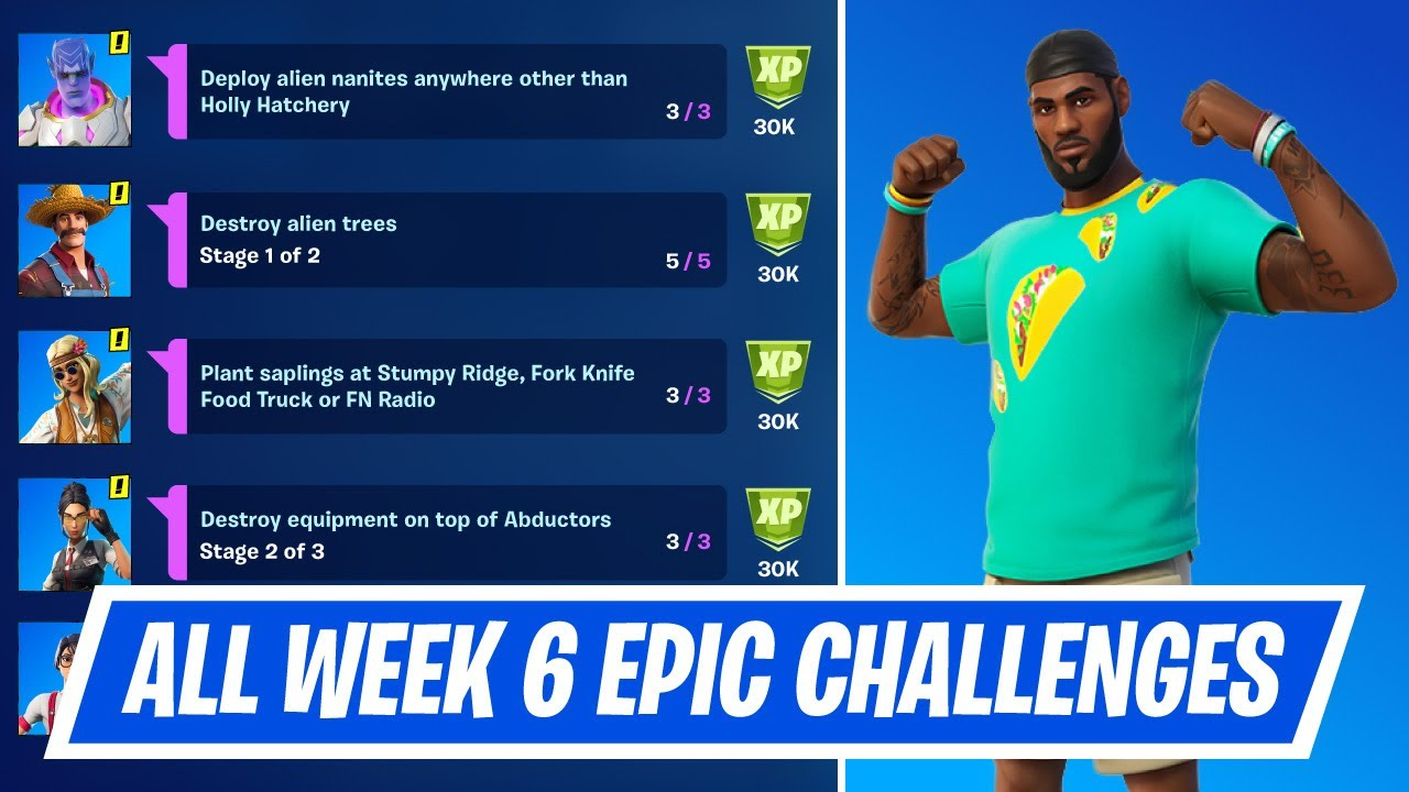 Download All Week 6 Epic Quest Challenges Guide in Fortnite - How to complete Week 6 Epic Quests in Season 7