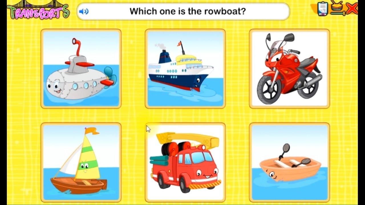 Cars For Kids Means Of Transport Educational Games