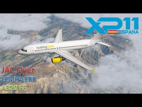 LEMH-LEBB | A320 FlightFactor | X-PLANE 11 | SIX AIRPORTS | AUTOLAND DURO