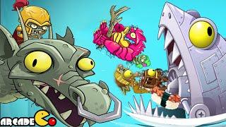 Plants Vs Zombies 2: ALL World Zomboss Battle