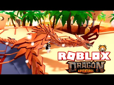 ROBLOX DRAGON ADVENTURES My DRAGON NAMES, Feather Dragon, Desert & LARGE Fire Post + Fire Pit