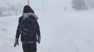 Dr. Debbie Gowan treks to the hospital in Fredericton in the blizzard
