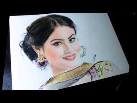 Drawing Mouni Roy thumbnail