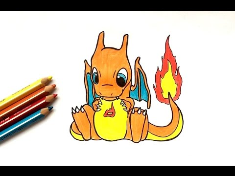 Dessin dracaufeu kawaii pok mon youtube - Coloriage pokemon dracaufeu ...