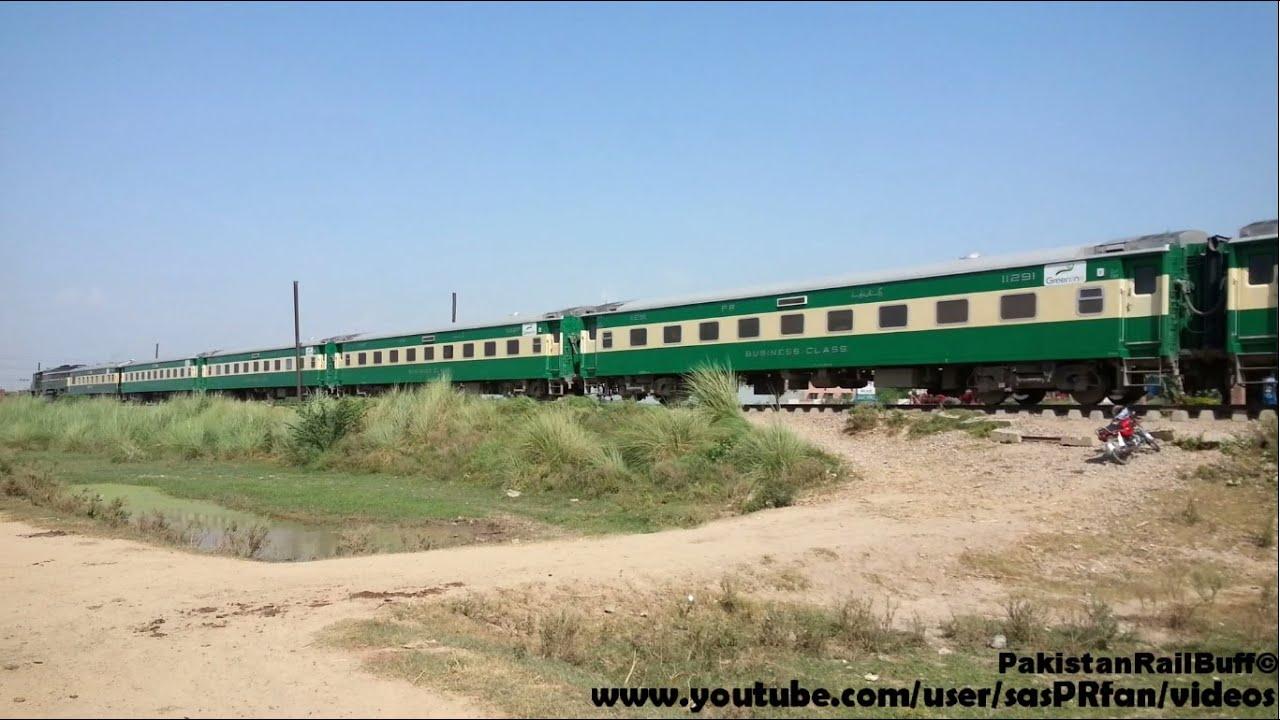 Pakistan Railways Luxury Train Green Line Express Near Lahore ...