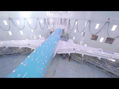 Unveiling Korean Air's First CS300 Aircraft