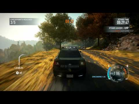 NFS The Run Extreme Difficulty (no NOS) Sawmill Drive [State Forest] w/ Police Interceptor Concept