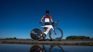 THE ONLY WOMAN IN THE WORLD WITH THIS BIKE    FENELLA LANGRIDGE    REAP BIKE