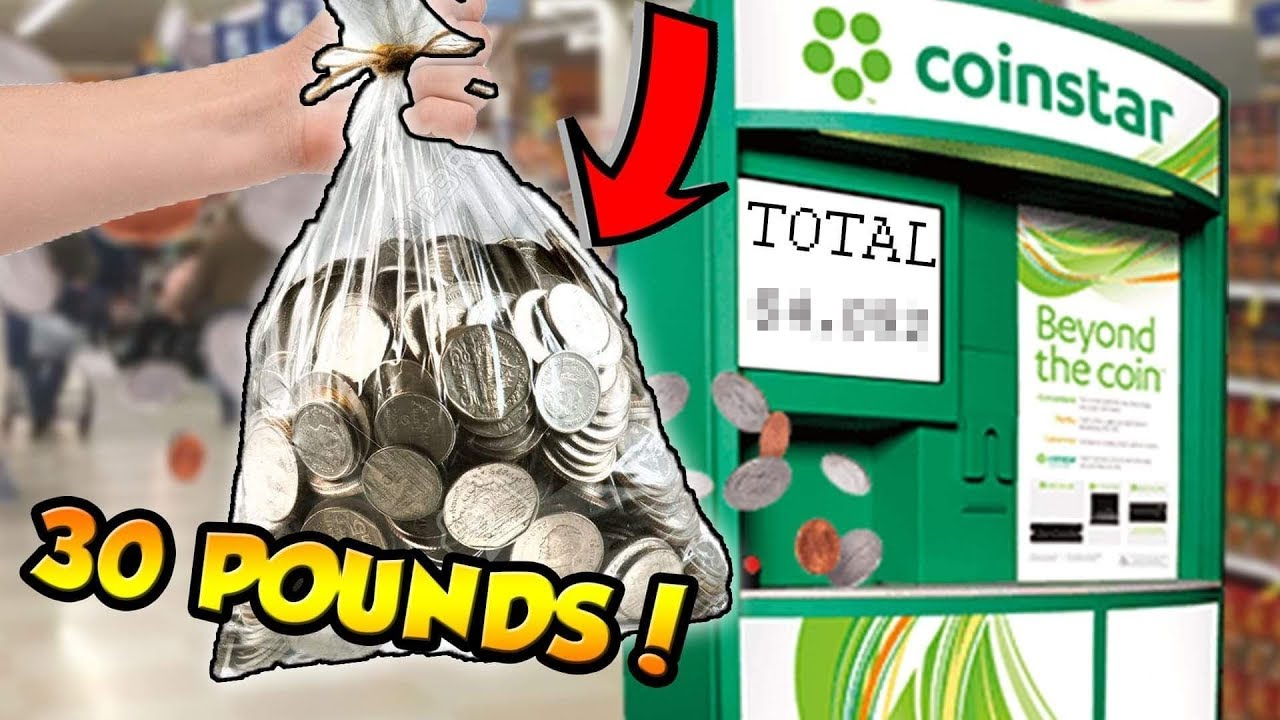 I brought my 30 pound bag of coins to Coin Star! Here's what happened
