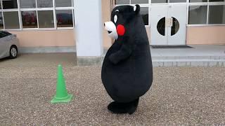くまモン到着@日本ハンドボールリーグ in 神埼中央公園体育館20171125