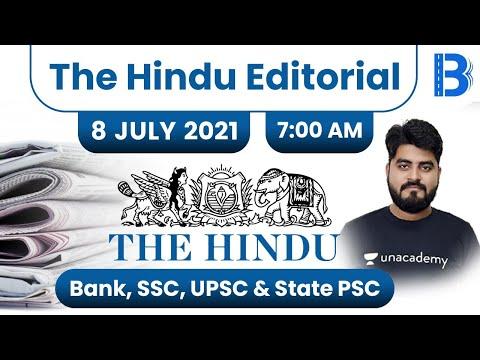7:00 AM - The Hindu Editorial Analysis by Vishal Parihar   The Hindu Analysis   8 July 2021