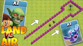 "WhO is FAsTeR!!?!👣Land vs Air!!👣""Clash Of Clans"" 3 Star attack!!!"