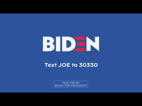 Joe Biden. Spot campaña Demócrata a la presidencia USA 2020