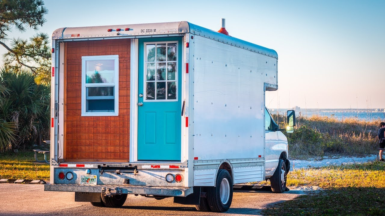 Tour Of Our Tiny House Camper Box Truck Conversion Youtube