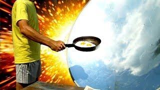 🌑 СОЛНЕЧНЫЙ КОНЦЕНТРАТОР ПРИГОТОВЛЕНИЕ ПИЩИ SOLAR COOKING Parabolic Mirror Игорь Белецкий