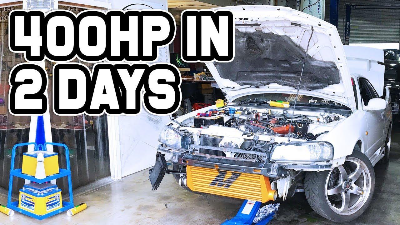 400HP IN 2 DAYS ON A R34 SKYLINE! - Mamba Bolt On Skyline Turbo Install