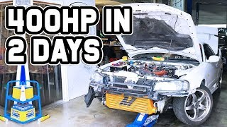 400HP IN 2 DAYS ON A R34 SKYLINE! - Mamba Bolt On Skyline Turbo Install